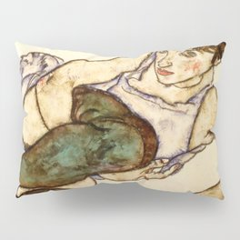 "Egon Schiele ""Reclining Woman with Green Stockings"" Pillow Sham"