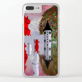 guardians of chess castle Clear iPhone Case