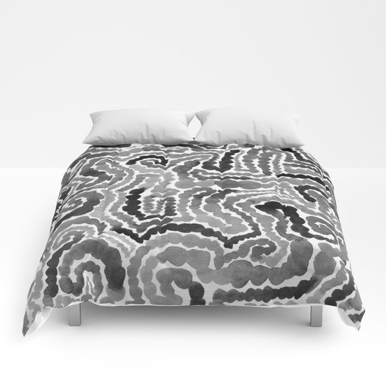 Gray Painting Comforters