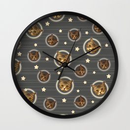 Planets of the Cats Wall Clock