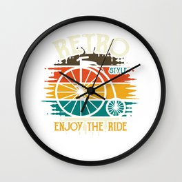 Retro Style Bicycle Vintage Wall Clock