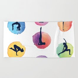 Yoga Mats Most Important Yoga Poses - inner yogi yoga positions in one mat Beach Towel