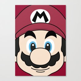 SUPER MARIO poster Canvas Print