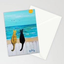 Seaside Cats Stationery Cards