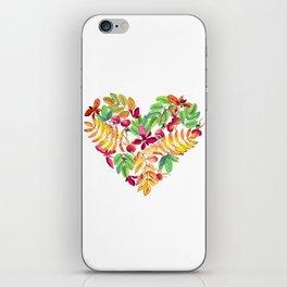 Heart leaves watercolor iPhone Skin