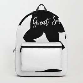 Great Smoky Mountains Black Bear Design Backpack