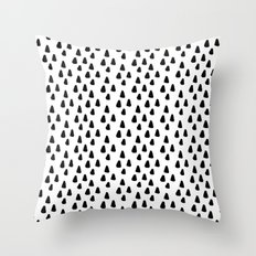 Black and white triangles pattern - classy college student collection Throw Pillow