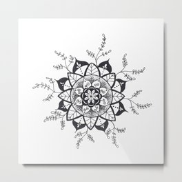 Mandala in Nature Metal Print