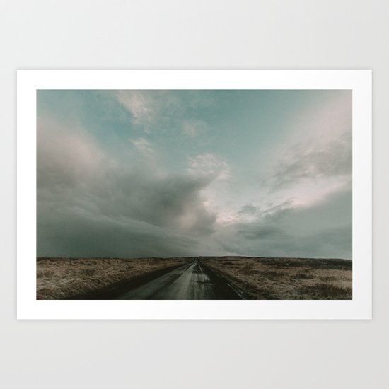 Miles to Go x Iceland Road Art Print
