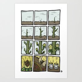 Cactus Fruit Harvest - Summer Art Print