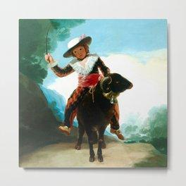 "Francisco Goya ""Boy on a Ram"" Metal Print"