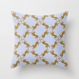 Orange Tiger Pattern Throw Pillow