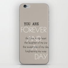 Forever and A Day Poem iPhone & iPod Skin