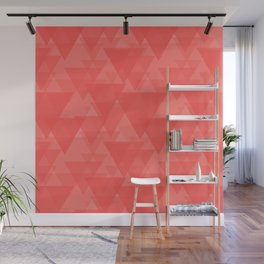 Gentle light red triangles in the intersection and overlay. Wall Mural
