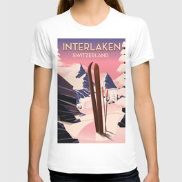 Interlaken Switzerland travel poster. T-shirt