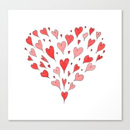 Loose Hearts Canvas Print