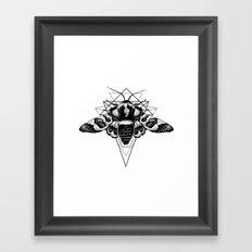 Geometric Moth Framed Art Print