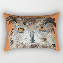 Wise Owl.  Hootie, Who, Who Rectangular Pillow