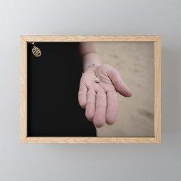 Little Hands, Tiny Shell Framed Mini Art Print