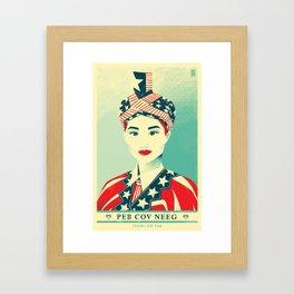 """Hmong Woman (original, full color) """"Peb Cov Neeg Txawj Sib Pab"""" Framed Art Print"""