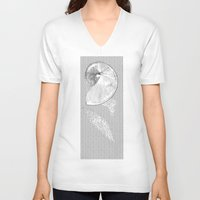 seashell V-neck T-shirts featuring SEASHELL by Mary Szulc