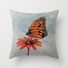 Majestic Monarch Butterfly Throw Pillow
