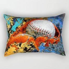 Baseball art print work 15 Rectangular Pillow