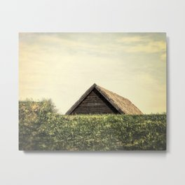 Magical Tiny House Iceland Metal Print