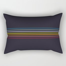 Thin Stripes Retro Colors Rectangular Pillow