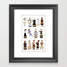 Women in History Framed Art Print