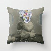 8bit Throw Pillows featuring 8bit Face by Naomi Vona
