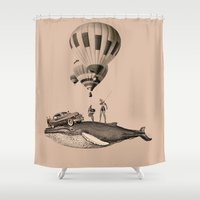 fig Shower Curtains featuring fig.8 by TRASH RIOT