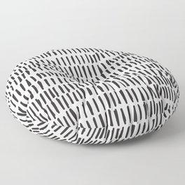 Black & White Lines  Floor Pillow