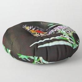 Monarchs Milkweed | oil painting Floor Pillow