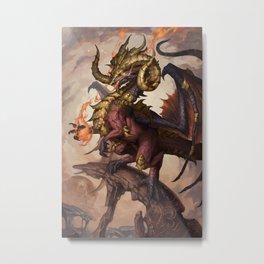 Zodiac Dragons Calendar Aries Metal Print