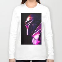 "battlestar Long Sleeve T-shirts featuring ""Some Kinda' Crazy, Frakked Up Cylon Signal..."" by Cullen Rawlins"