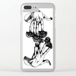 Turkey Nails Clear iPhone Case