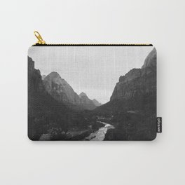 Zion black and white Carry-All Pouch
