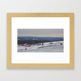 Wintertime in the Country Framed Art Print