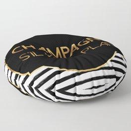 Champagne S'il Vous Plait Floor Pillow