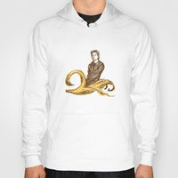 lou reed Hoodies featuring Banana Lou by Elwood Madison