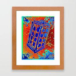 Retro Call Box III Framed Art Print