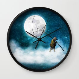 Moonwalk Wall Clock