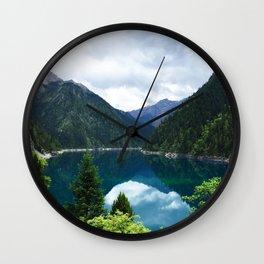长海 // Long Lake, Jiuzhaigou Wall Clock