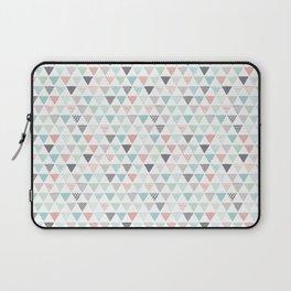 Geometric pastel triangle scandinavian style aztec print Laptop Sleeve