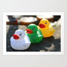 Three gummy ducks Art Print