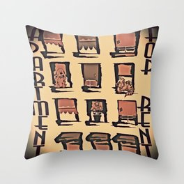 Apartment For Rent Throw Pillow