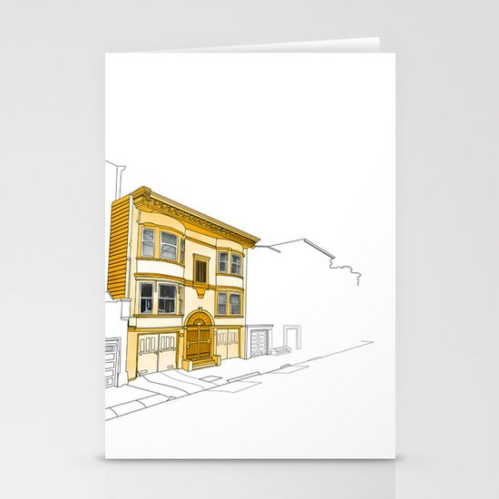 Yellow San Francisco Haus Stationery Cards