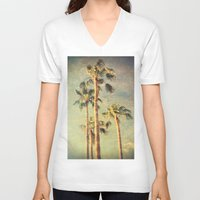palms V-neck T-shirts featuring palms by Sylvia Cook Photography
