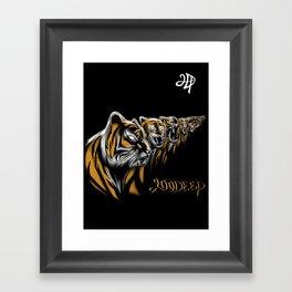 Tiger Deep Framed Art Print